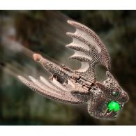 "Geocoin ""Flying Guardian Dragon"" - Antique Copper"