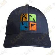 Boné logotipo Geocaching color - Cinza
