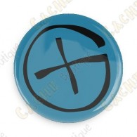 Geocaching button - Blue
