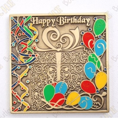 "Geocoin ""Happy Birthday"""