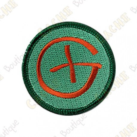 Geocaching round patch - Orange