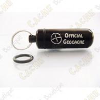 "Micro capsule ""Official Geocache"" 5 cm - Negra"
