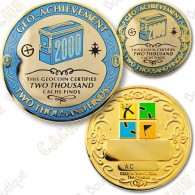 Geo Achievement® 2000 Finds - Coin + Pin's