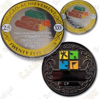 Geo Achievement® 25 Hides - Coin + Pin's