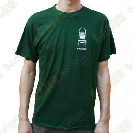 "T-Shirt ""Travel Bug"" Trackable Homme - Vert"