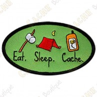 Geocaching patch - Eat - Sleep - Cache