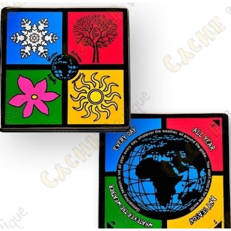 "Geocoin ""4 seasons"""