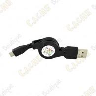 Câble rétractable USB - Mini USB