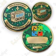 Geo Achievement® 15 000 Finds - Coin + Pin's