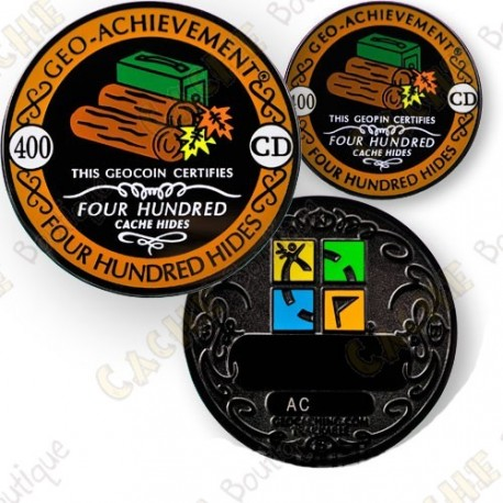 Geo Achievement® 400 Hides - Coin + Pin's