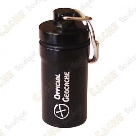 "Micro cache ""Official Geocache"" 5,2 cm - Black"
