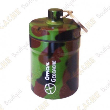 """Grosse micro cache """"Official Geocache"""" 8 cm - Camouflage"""