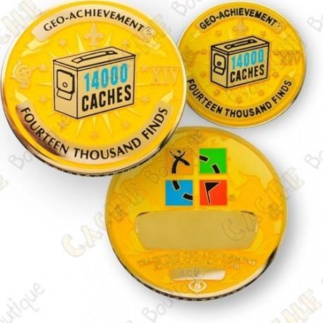 Geo Achievement® 14 000 Finds - Coin + Pin
