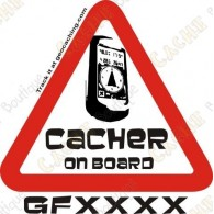 "Sticker ""Cacher opn board"" trackable"
