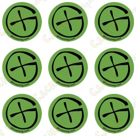 "Sticker Geo ""Round X-Small"" - Lot de 9"