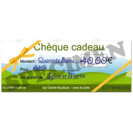 Chèque cadeau - Valeur 40€
