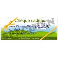 Cupom de presente - 50€
