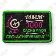 Geo Achievement® 3000 Finds - Patch