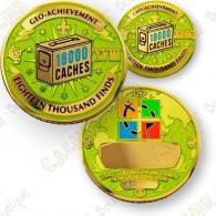 Geo Achievement® 18 000 Finds - Coin + Pin