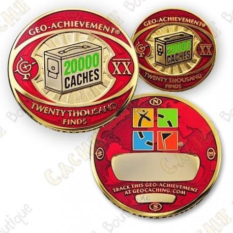 Geo Achievement® 20 000 Finds - Coin + Pin's
