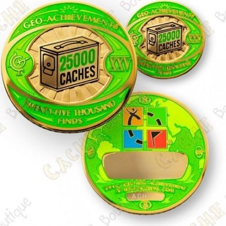 Geo Achievement® 25 000 Finds - Coin + Pin