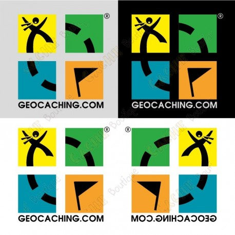 Geocaching Mini stickers - Pack of 4