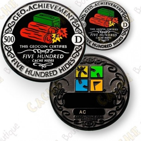 Geo Achievement® 500 Hides - Coin + Pin's