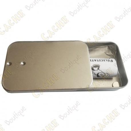 "Cache ""Tin"" magnétique - Mini rectangle"