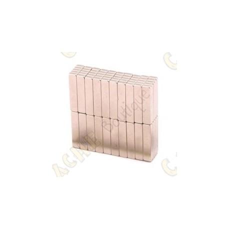 Magnets neodymes 20x4x2mm - Lot de 5