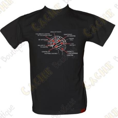 """T-Shirt """"Geo Brain"""" for men - Black"""