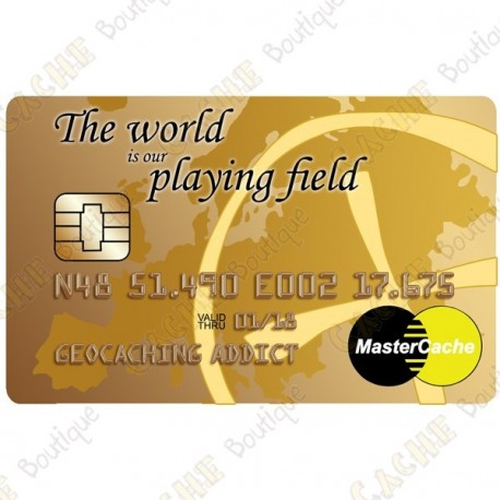 "Geocoin - ""MasterCache"" trackable card"
