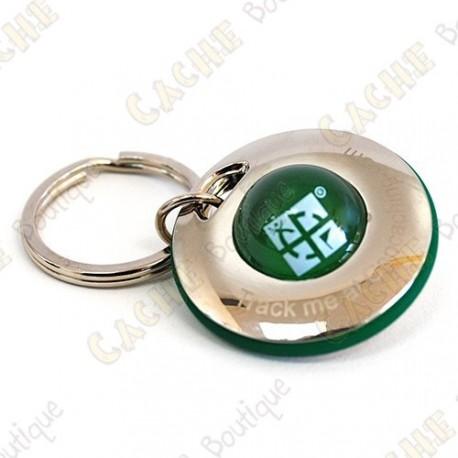 """Geocoin """"Spinner Ball"""" - Green"""