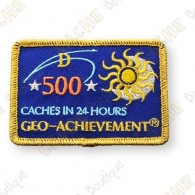Geo Achievement® 24 Hours 500 Caches - Patch