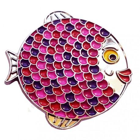 "Geocoin ""Rainbow Fish"" - Girly Silver LE"