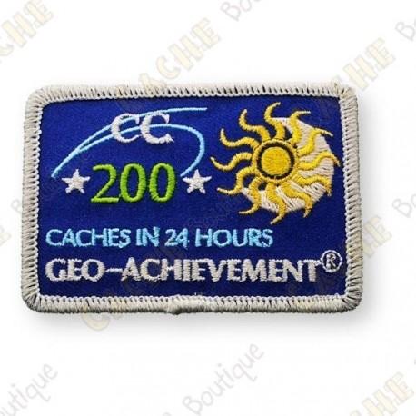 Geo Achievement® 24 Hours 200 Caches - Parche