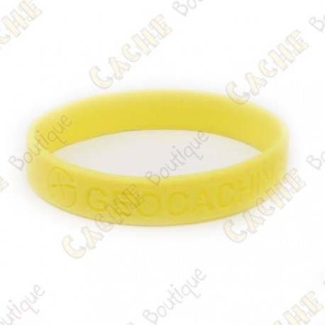 pulsera de silicona - Geocaching, this is our world - Amarillo