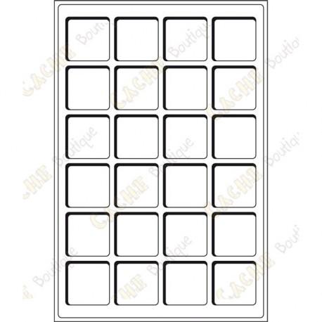 Bandeja L para geocoins 47 x 47 mm - 24 caixas