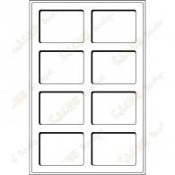 Bandeja L para geocoins 64 x 86 mm - 8 caixas