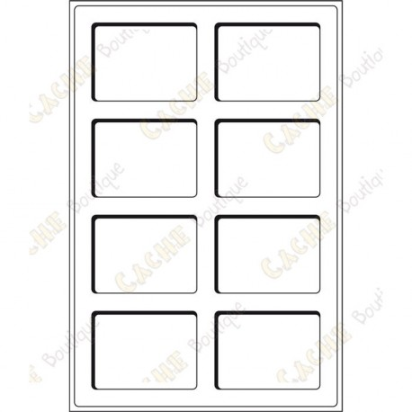 Bandeja L para geocoins 64 x 86 mm - 8 cajas