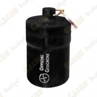 "Huge micro cache ""Official Geocache"" 8 cm - Black"