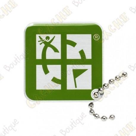 Geocaching logo travel tag - Green