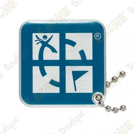 Geocaching logo travel tag - Blue