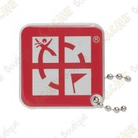 Geocaching logo travel tag - Red