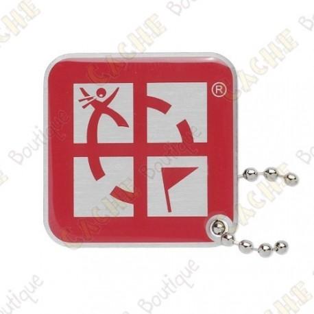 Traveler Logo Geocaching - Vermelho