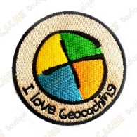Parche con logotipo geocaching.