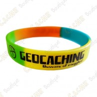 Geocaching silicone wristband - Color