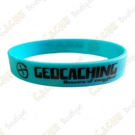Geocaching silicone wristband - Blue