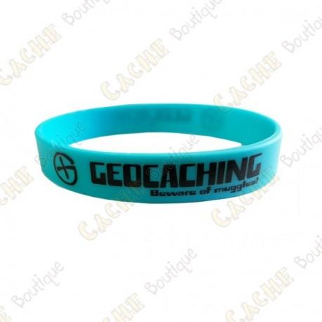 Pulsera de silicona Geocaching niños - Azul
