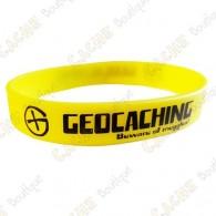 Pulseira de silicone Geocaching - Amarelo