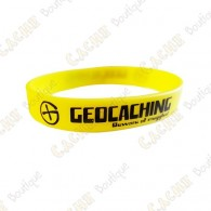 Geocaching silicone wristband for kids - Yellow